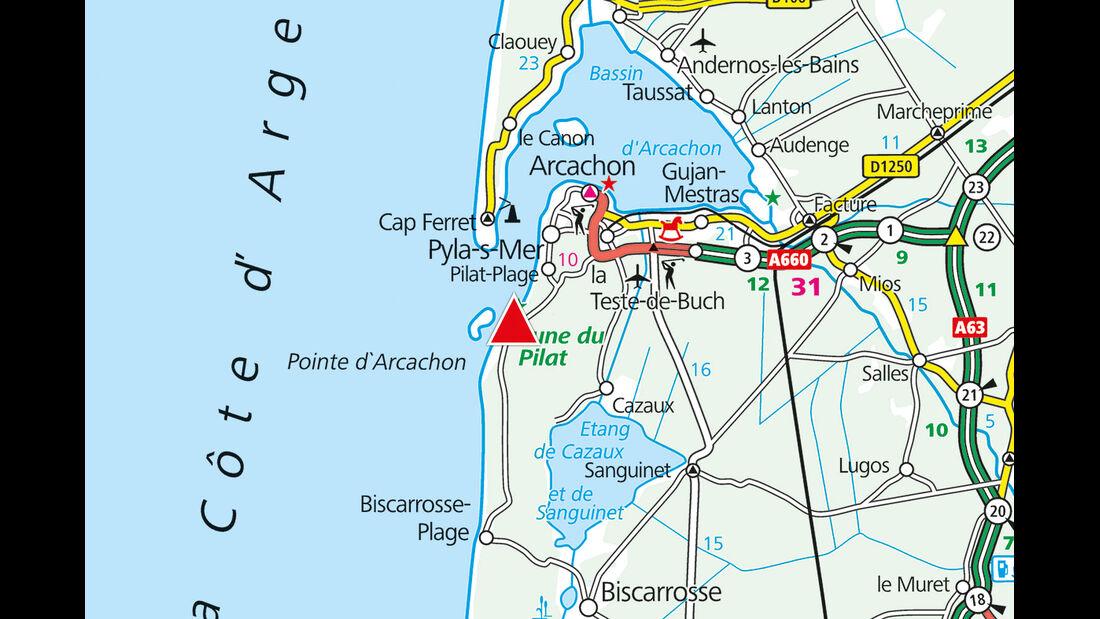 Karte Region La Forêt
