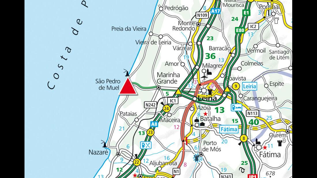 Karte Region Marinha-Grande