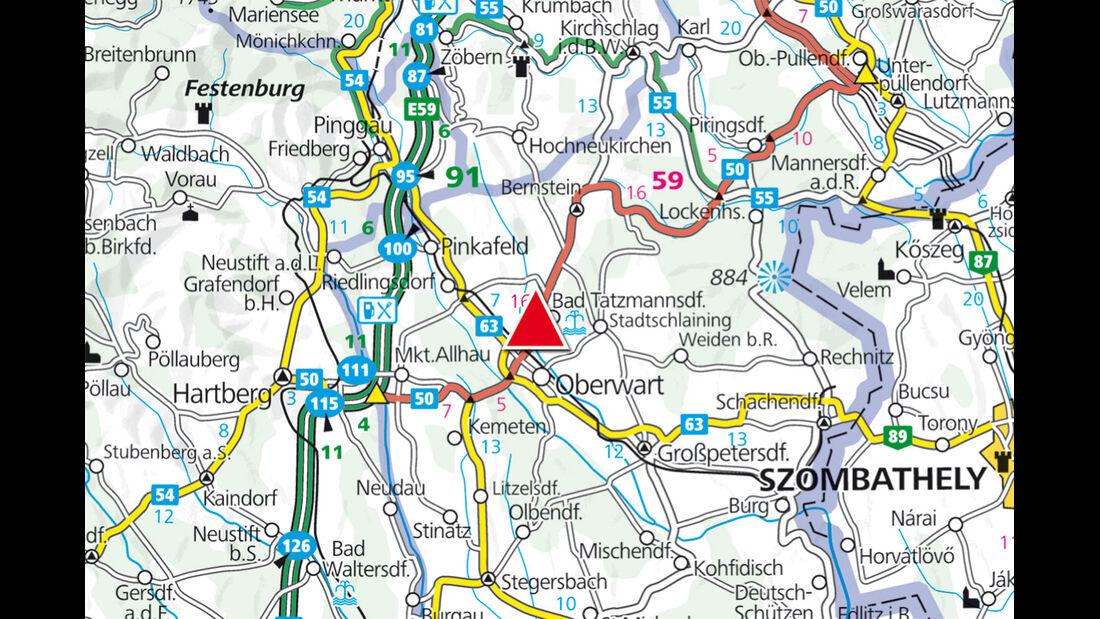 Karte Region Oberschützen