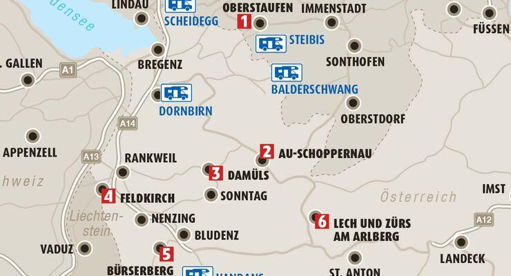 Karte Region Vorarlberg