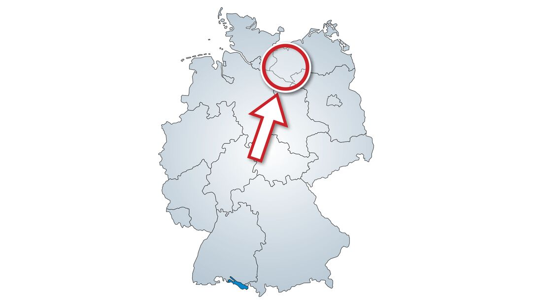 Karte Südwest-Mecklenburg.