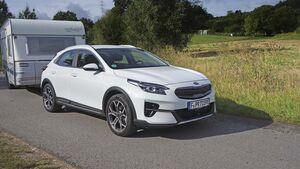 Kia X-Ceed Hybrid Zugwagentest