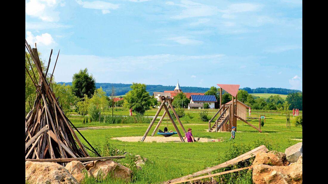 Kinderspielplatz im Campingplatz Bayerbach