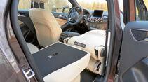 Klappbare Sitze beim Mercedes B 250