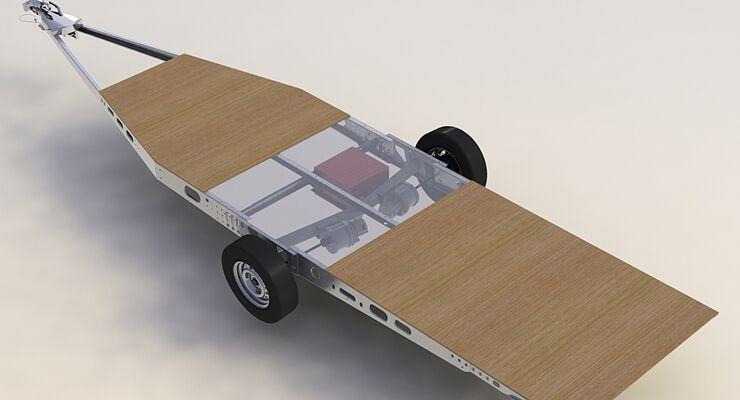 Knaus Tabbert zeigt auf dem Caravan Salon einen Prototypen zur Stromerzeugung und –speicherung für elektrische Verbraucher