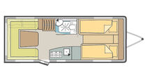 Kompakter Komfortgrundriss für vier bis sechs Personen.