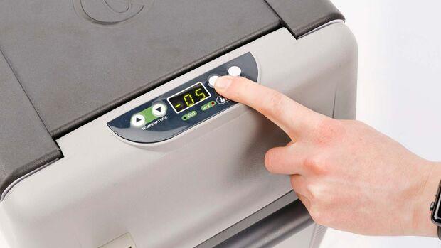 Kompressor-Kühlbox Eberspächer Bedienpanel