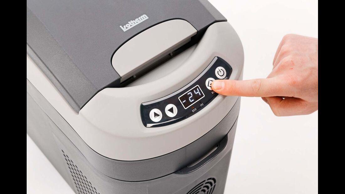 Kompressor-Kühlbox Webasto Bedienpanel