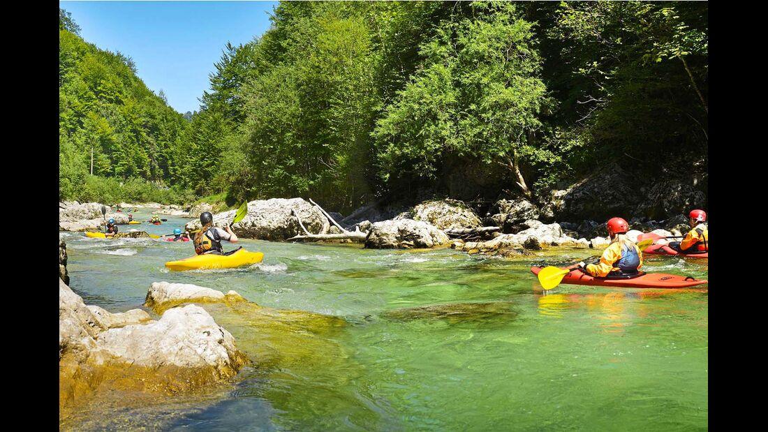 Kristallklare Flüsse im und rund um den Nationalpark Kalkalpen