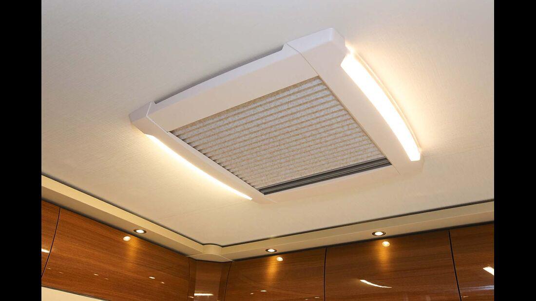 LED-Beleuchtung in allen Dachhauben.