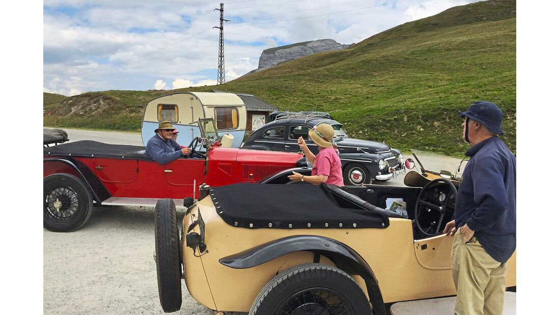 Lancia Torpedo aus 1920er auf Cormet des Roselend