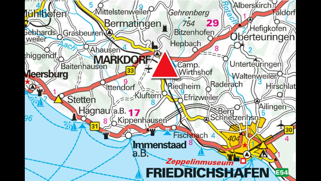 Landkarte der Region.