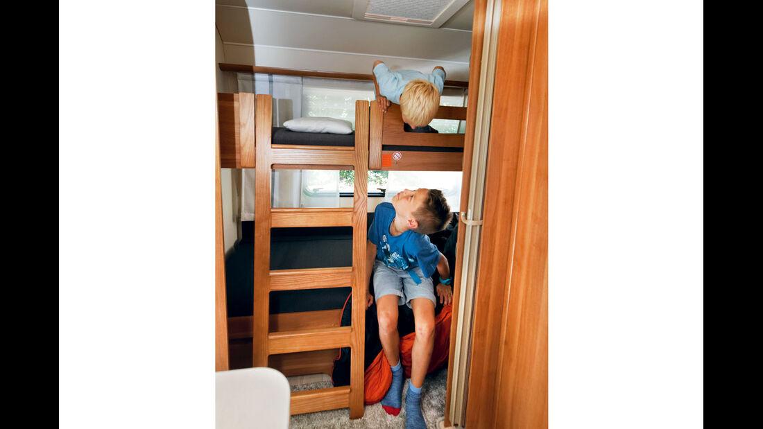Leiter am Stockbett lässt sich leicht entfernen.