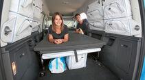 Liegestatt misst 2 x 1,1 Meter beim VW Caddy