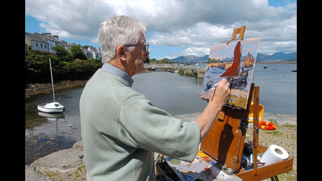 Maler im Hafen