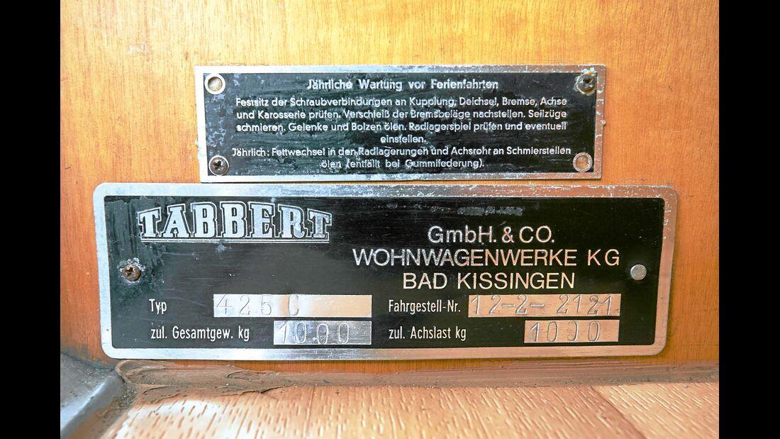 Markenschild Tabbert