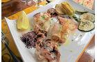Mediterrane Meeresfrüchte im Restaurant La Pelosa.