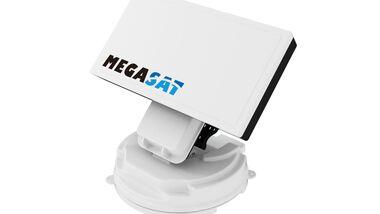 Megasat wartet mit drei neuen, sehr flachen vollautomatischen Satellitenantennen auf – der Countryman-Familie.