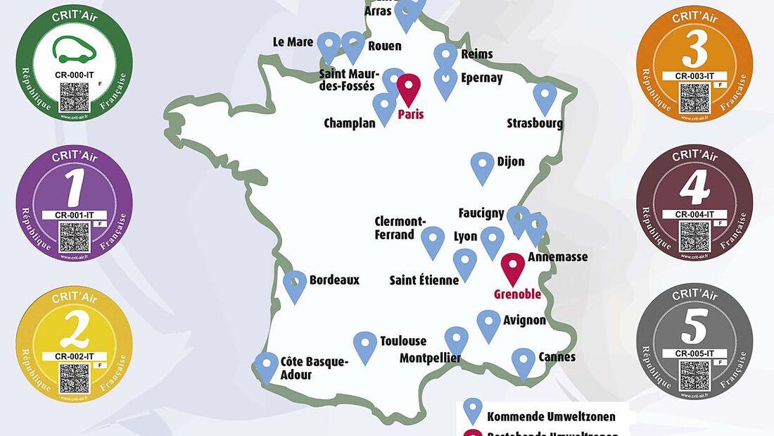 Mehr Umweltzonen In Frankreich Und Eura Fur Bessere Luft Caravaning