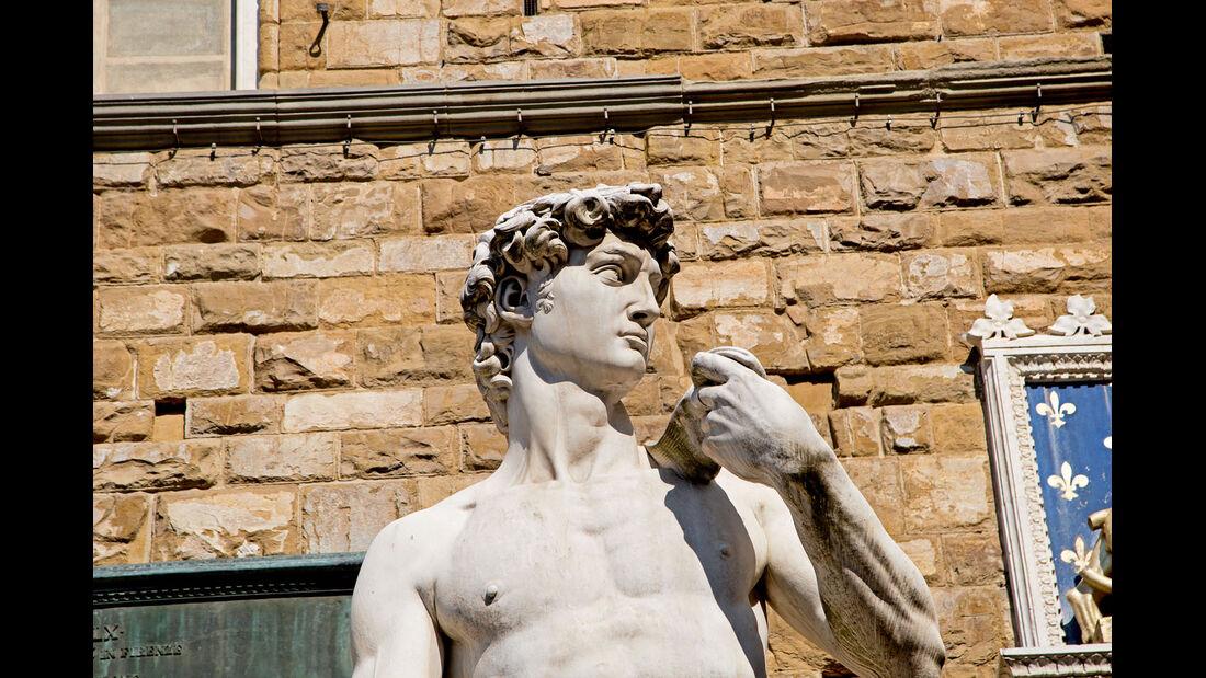 Michelangelos David-Skulptur fasziniert.