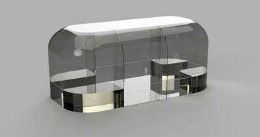Modell 3D-Drucker Wohnwagen