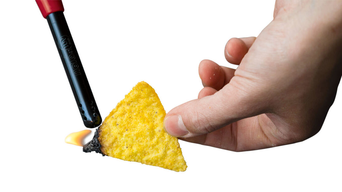 Nacho-Chips haben die perfekten Brenneigenschaften.
