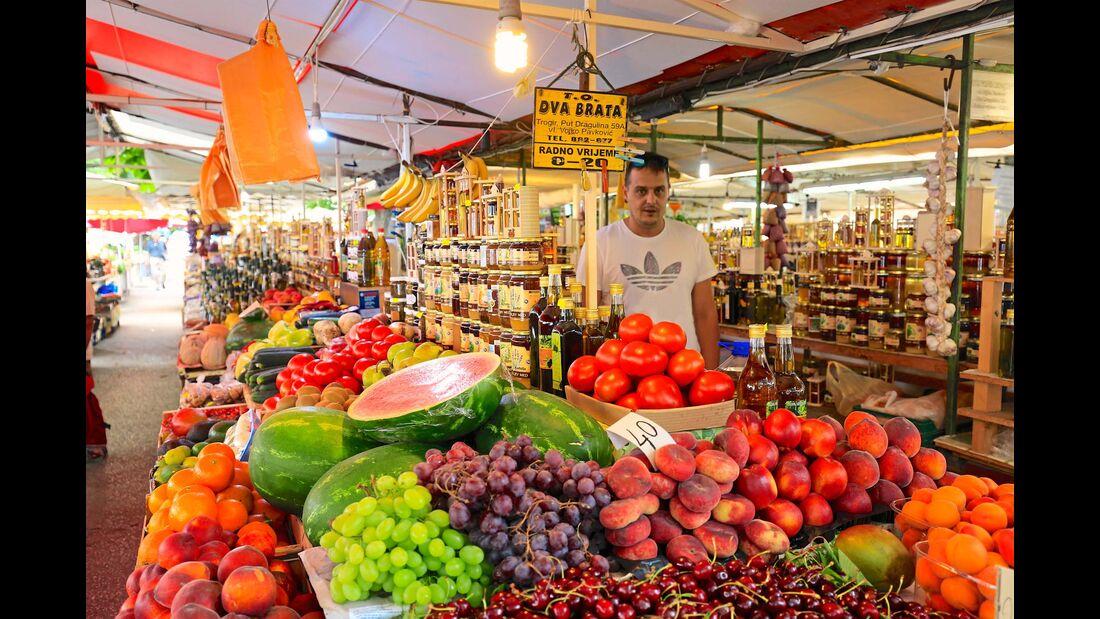 Obst und Gemüse gedeihen prächtig im milden Klima.