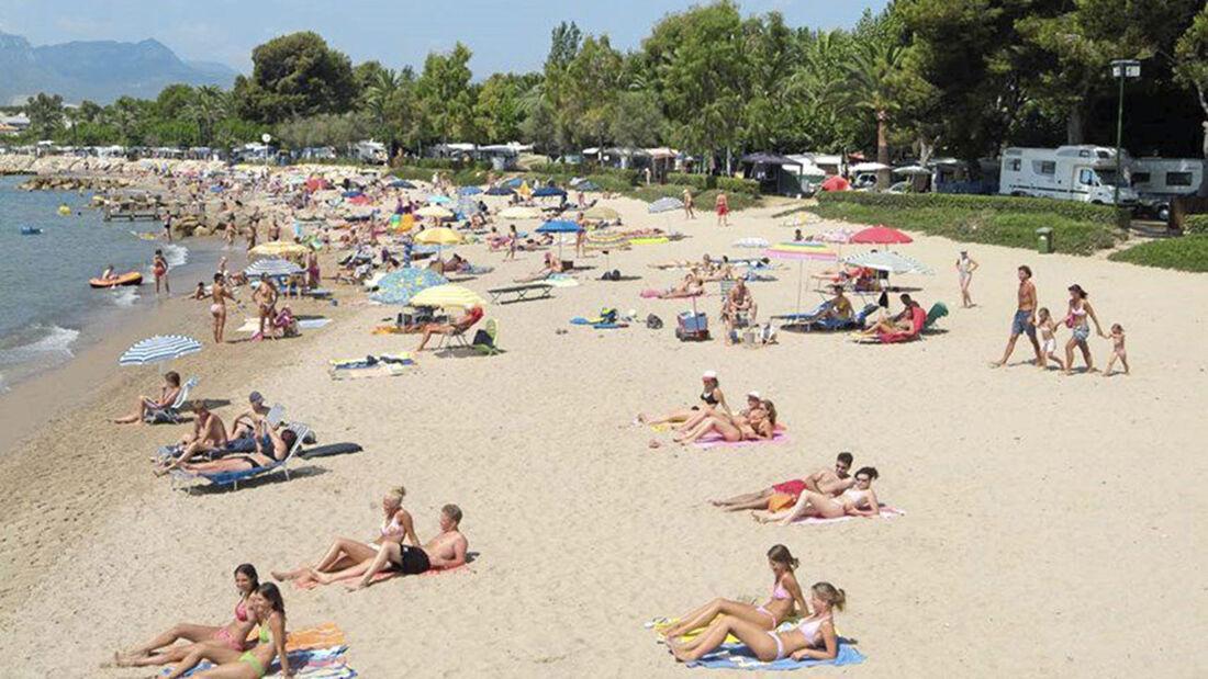 Playa Montroig  Camping