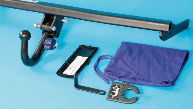 Steckdosenhalter 2 mm Edelstahl Steckdosenhalterung für Anhängerkupplung AHK