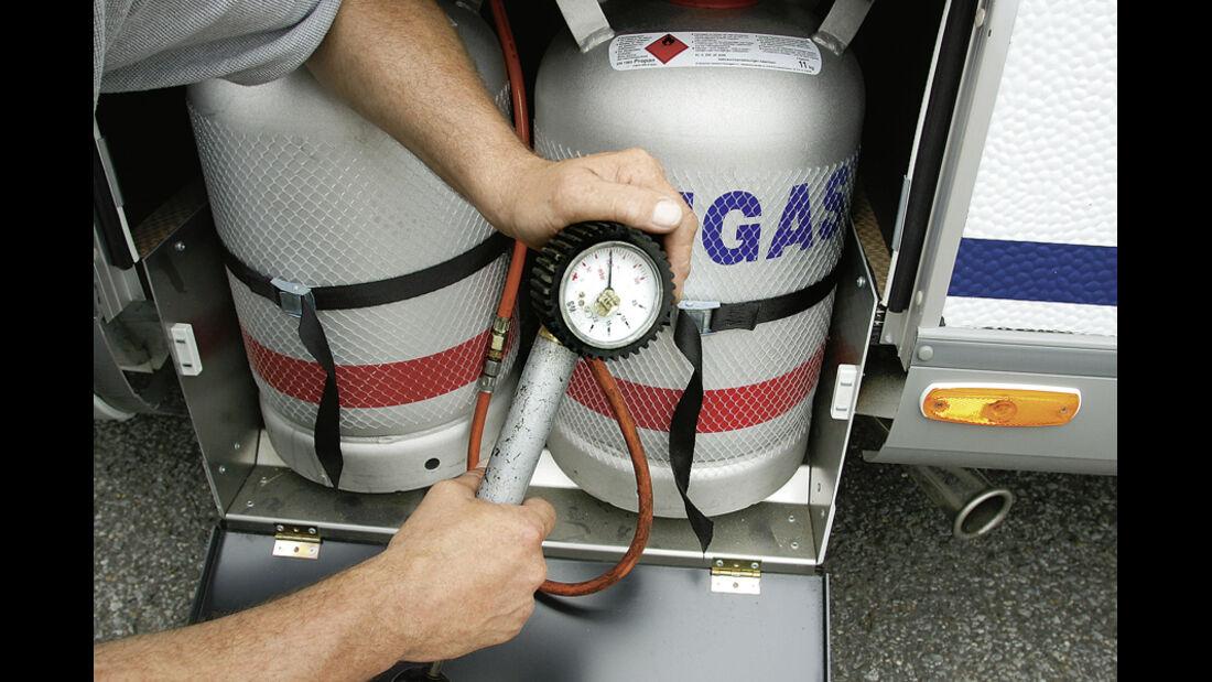Praxis, Gasanlage