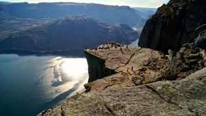 Preikestolen in Norwegen
