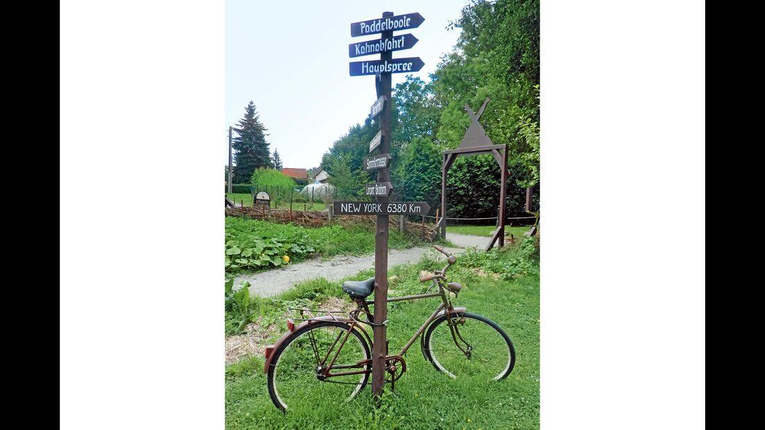 Radler finden im Spreewald beste Möglichkeiten.