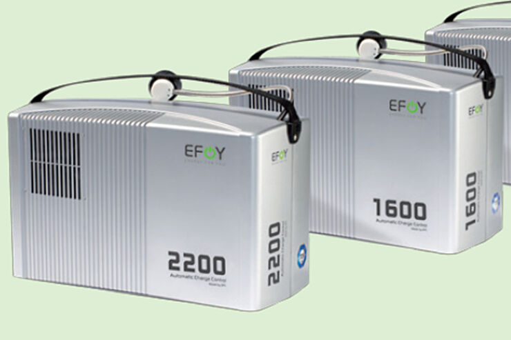 Sfc Pr Sentiert Die Brennstoffzelle Efoy 2200 Caravaning