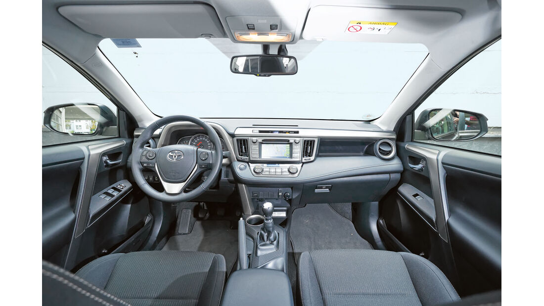 Sauber verarbeitetes Cockpit