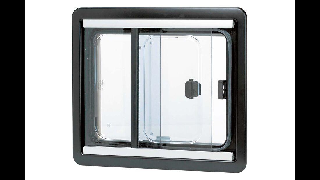 Schiebefenster laufen in einem Rahmen aus Polyurethan-Schaum