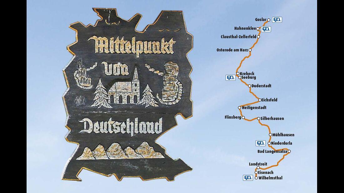 Schild und Karte