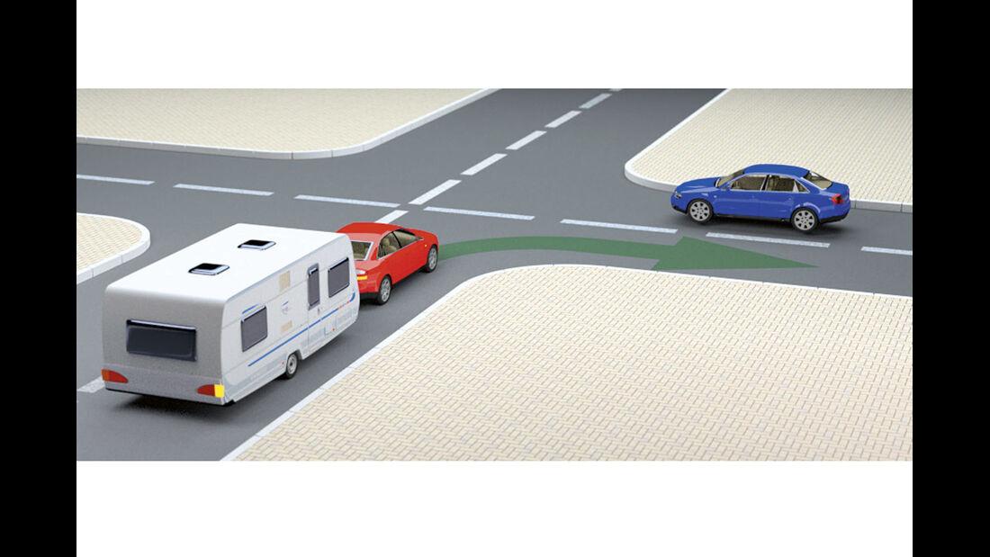 Schritt für Schritt zum Profi-Camper, Mit dem Gespann im Straßenverkehr