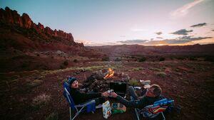 Sitzmöglichkeiten beim Camping