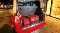 So groß ist der Kofferraum, wenn alle Sitze so positioniert sind, dass man gut sitzt.