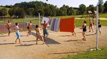 Sonne, Strand, Spiel und Spaß.