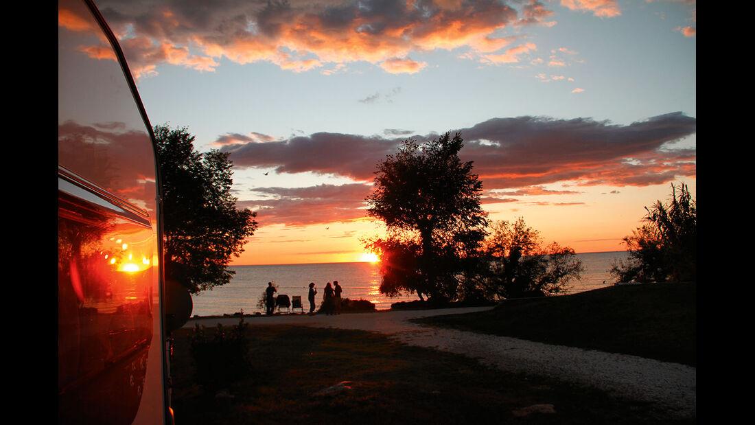 Sonnenuntergang über der Adria