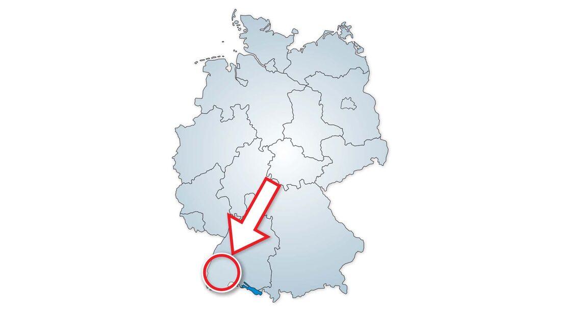 Standort des Camping Sulzbachtal im Markgräflerland