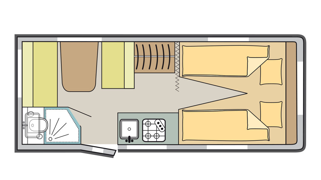 Sterckeman Easy 470 (2021) im Grundriss