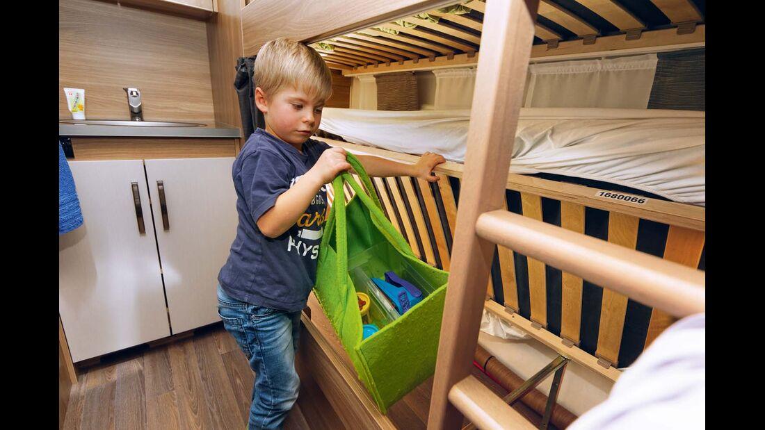 Stockbett ohne Aufsteller und Außenklappe