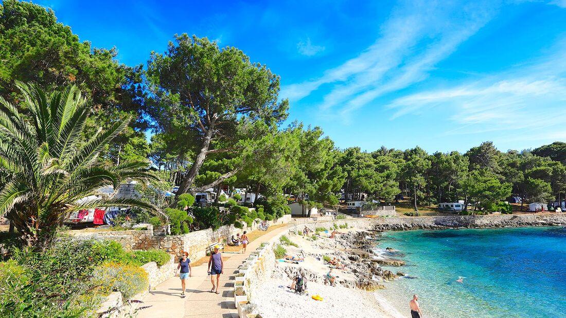Strand Camping Cikat Kroatien Insel Losinj