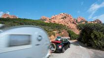 Straße an der Côte d'Azur