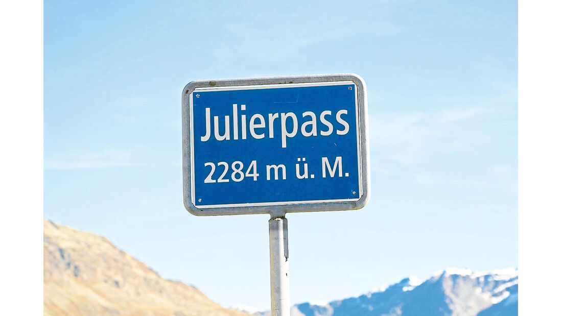 Straßenschild Julierpass
