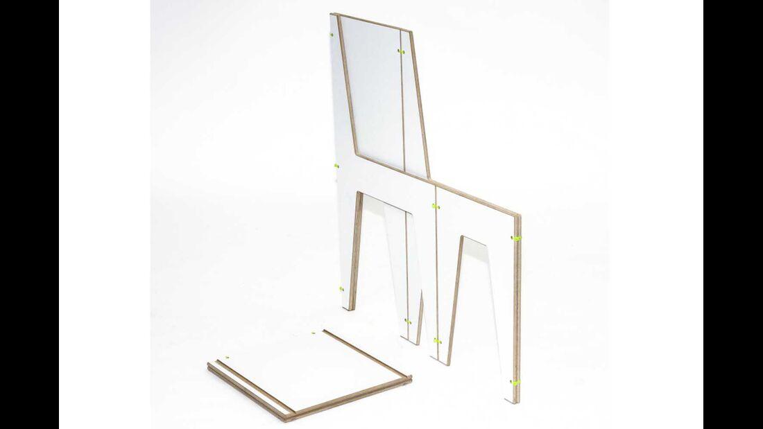 Stuhl Luise weiß gefaltet