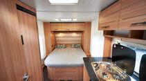 Style 450 D: Neuer Grundriss mit Queensbett und Heckdinette.