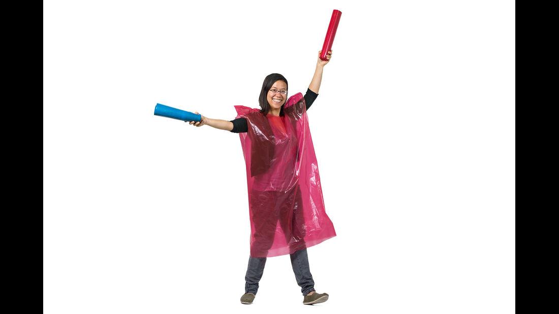 Superpraktisch ist so ein Regencape.